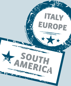 Italy, Europe, South America